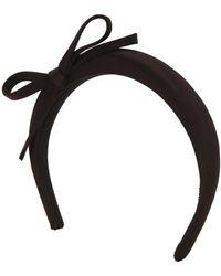 Prada - Satin Bow Headband - Lyst