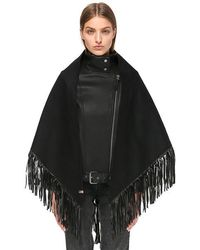 Mackage - Fida Wrap Scarf With Leather Fringe For Women - Lyst