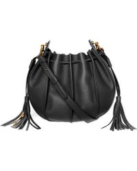 Mackage - Kase-m Leather And Suede Mini Crossbody Bucket Bag - Lyst