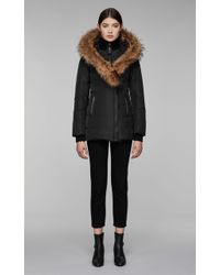 Mackage - Adali Fitted Winter Down Coat With Hood And Fur Trim - Lyst