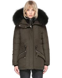 Mackage - Katryn Hip Lenght Winter Down Jacket With Fur - Lyst