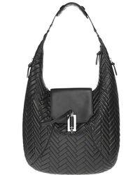 Mackage - Dara Black Leather Hobo Handbag - Lyst