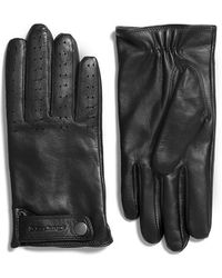 Mackage - King Leather Gloves For Men With Embossed Tab In Black - Lyst