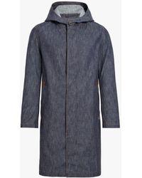 Mackintosh - Dark Indigo Denim Hooded Coat D-mc007d - Lyst