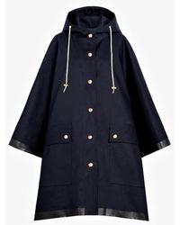 Mackintosh - Navy Bonded Cotton Hooded Poncho Lr-088 - Lyst