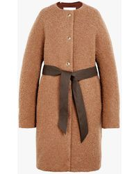 Mackintosh - Beige Poodle Tweed Belted Thindown Coat Lm-085/td - Lyst