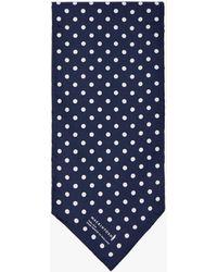 Mackintosh - Dark Navy X White Silk Scarf - Lyst