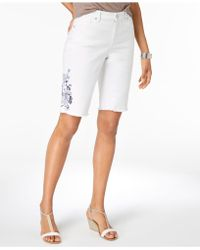 Style & Co. - Embroidered Bermuda Shorts, Created For Macy's - Lyst