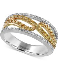 Effy Collection - Diamond Two-tone Ring (5/8 Ct. T.w.) In 14k Gold & White Gold - Lyst