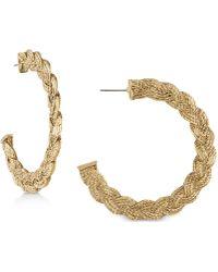 RACHEL Rachel Roy - Gold-tone Rope Hoop Earrings - Lyst