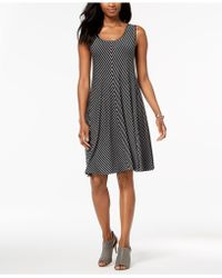 Style & Co. - Striped Swing Dress, Created For Macy's - Lyst