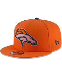 the best attitude 4d3f2 d06f3 KTZ Denver Broncos State Flag Reflective 59fifty Fitted Cap for Men - Lyst