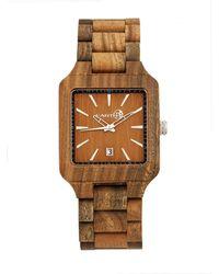 Earth Wood - Arapaho Wood Bracelet Watch W/date Olive 39mm - Lyst