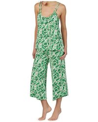 267e5856e18 Betsey Johnson - Copacabana Tropical-print Slinky Jersey Culotte Pajama Set  - Lyst
