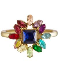 RACHEL Rachel Roy - Gold-tone Multi-stone Cluster Fashion Ring - Lyst