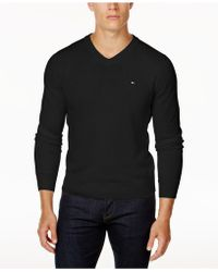 Tommy Hilfiger - Signature Solid V-neck Sweater, Created For Macy's - Lyst