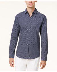 Vince Camuto - Men's Printed Poplin Shirt - Lyst