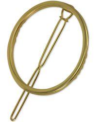 Guess - Gold-tone Circle Hair Barrette - Lyst