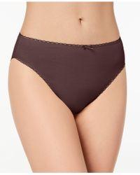 Charter Club | Pretty Cotton Hi Cut Bikini, Created For Macy's | Lyst