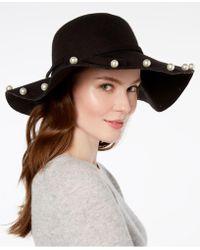Betsey Johnson - Imitation Pearl-talk Floppy Hat - Lyst