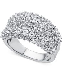 Macy's - Lab-created White Sapphire Cluster Ring (4 Ct. T.w.) In Sterling Silver - Lyst