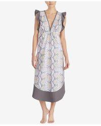 Betsey Johnson - Printed Ruffle-sleeve Maxi Nightgown - Lyst