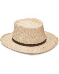 Dorfman Pacific - Raffia Gambler Hat - Lyst