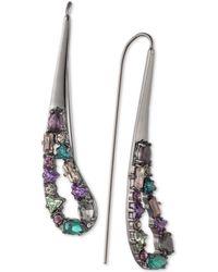 Carolee - Hematite-tone Crystal Drop Earrings - Lyst