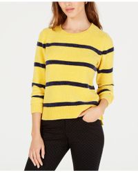 Maison Jules - Striped Chenille Sweater, Created For Macy's - Lyst