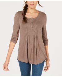 Style & Co. - Long-sleeve Pintuck Top, Created For Macy's - Lyst