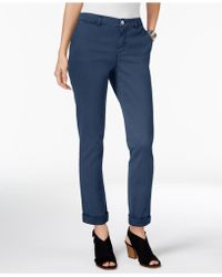 Style & Co. - Petite Chino Boyfriend Trousers, Created For Macy's - Lyst