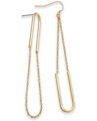 INC International Concepts - Gold-tone Chain Loop Drop Earrings, Created For Macy's - Lyst