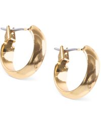 Anne Klein - Silver-tone Small Hoop Earrings - Lyst