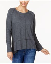 Style & Co. - Petite Seamed High-low Top, Created For Macy's - Lyst