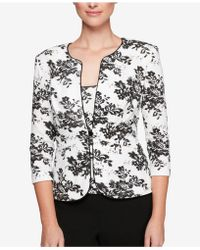 Alex Evenings - Petite Embellished Floral Jacket & Shell - Lyst