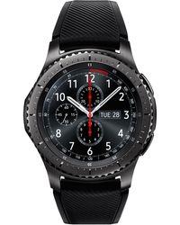 Samsung - Men's Gear S3 Frontier Chronograph Smart Watch With 46mm Silicone Case & Black Sport Strap Sm-r760ndaaxar - Lyst