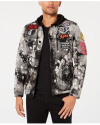 Reason - Crushers Hooded Denim Jacket - Lyst