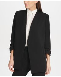 f39f4bd4a9250 Lyst - Vince Camuto Open-front Long Sweater Vest in Black