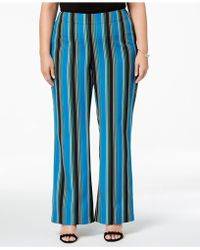 INC International Concepts - I.n.c. Plus Size Striped Wide-leg Pants, Created For Macy's - Lyst