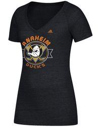 adidas - Anaheim Ducks Banner Dazzle T-shirt - Lyst