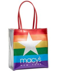 Macy's - Glitter Graphic Tote Bag - Lyst