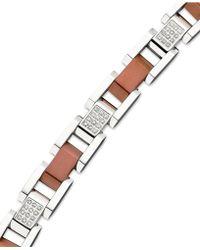 Macy's | Men's Diamond Bracelet In Stainless Steel (1/2 Ct. T.w.) | Lyst