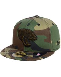 huge discount 66a9b e0995 KTZ - Jacksonville Jaguars Woodland Prism Pack 59fifty-fitted Cap - Lyst