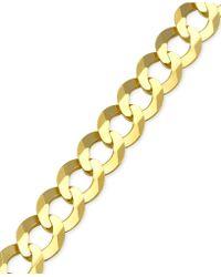 Macy's - Cuban Chain Link Bracelet In 10k Gold - Lyst
