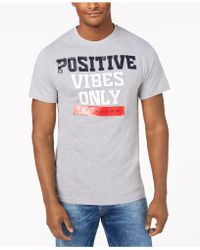 Sean John - Positive Vibes Graphic T-shirt - Lyst