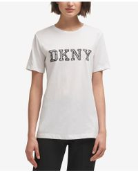 DKNY - Cotton Logo T-shirt, Created For Macy's - Lyst