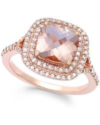 Effy Collection - Morganite (1-7/10 Ct. T.w.) And Diamond (3/8 Ct. T.w.) Ring In 14k Rose Gold - Lyst