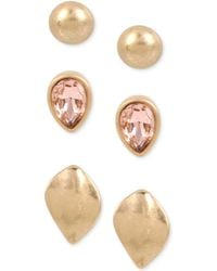 Kenneth Cole - Gold-tone 3-pc. Set Stud Earrings - Lyst