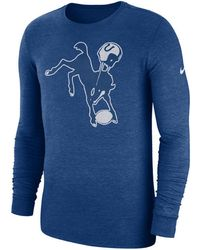 Nike - Indianapolis Colts Historic Crackle Long Sleeve Tri-blend T-shirt -  Lyst 9a5255d98