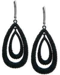 Anne Klein - Hematite-tone Pavé Orbital Drop Earrings, Created For Macy's - Lyst